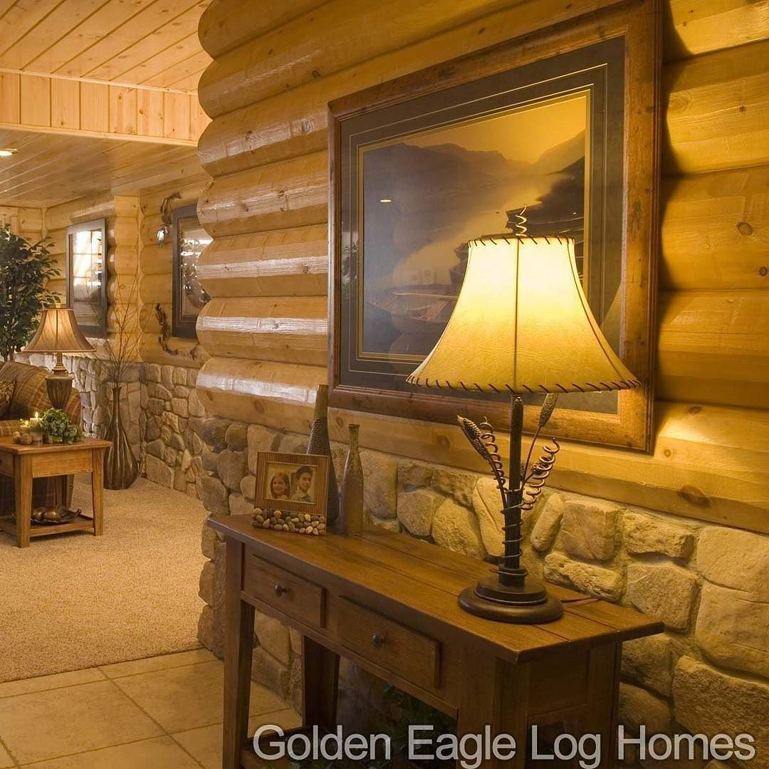 Houzz Australia S Homes With The Best Interior Design: Cultured Stone And Half Log Wainscoting In The Country's