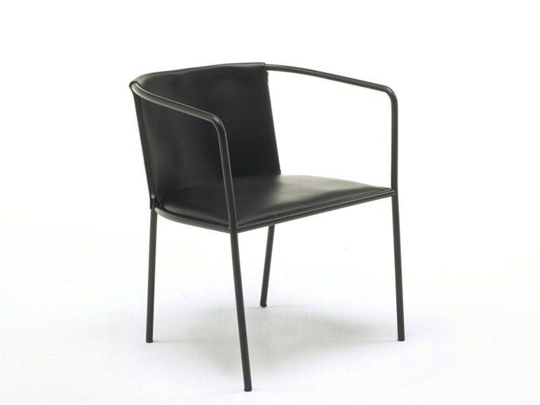 Sedia in pelle con braccioli MAJA D. by Living Divani | Chair design ...