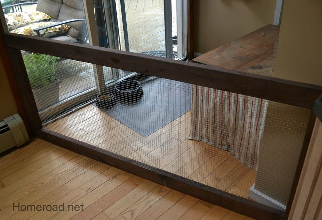 diy dog fence!!!! Have you ever priced extra wide baby gates? They ...