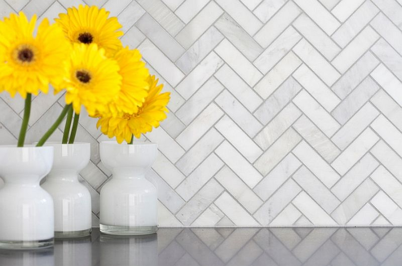 Zigzag Patterns In Kitchen Chevron And Herringbone Kitchen