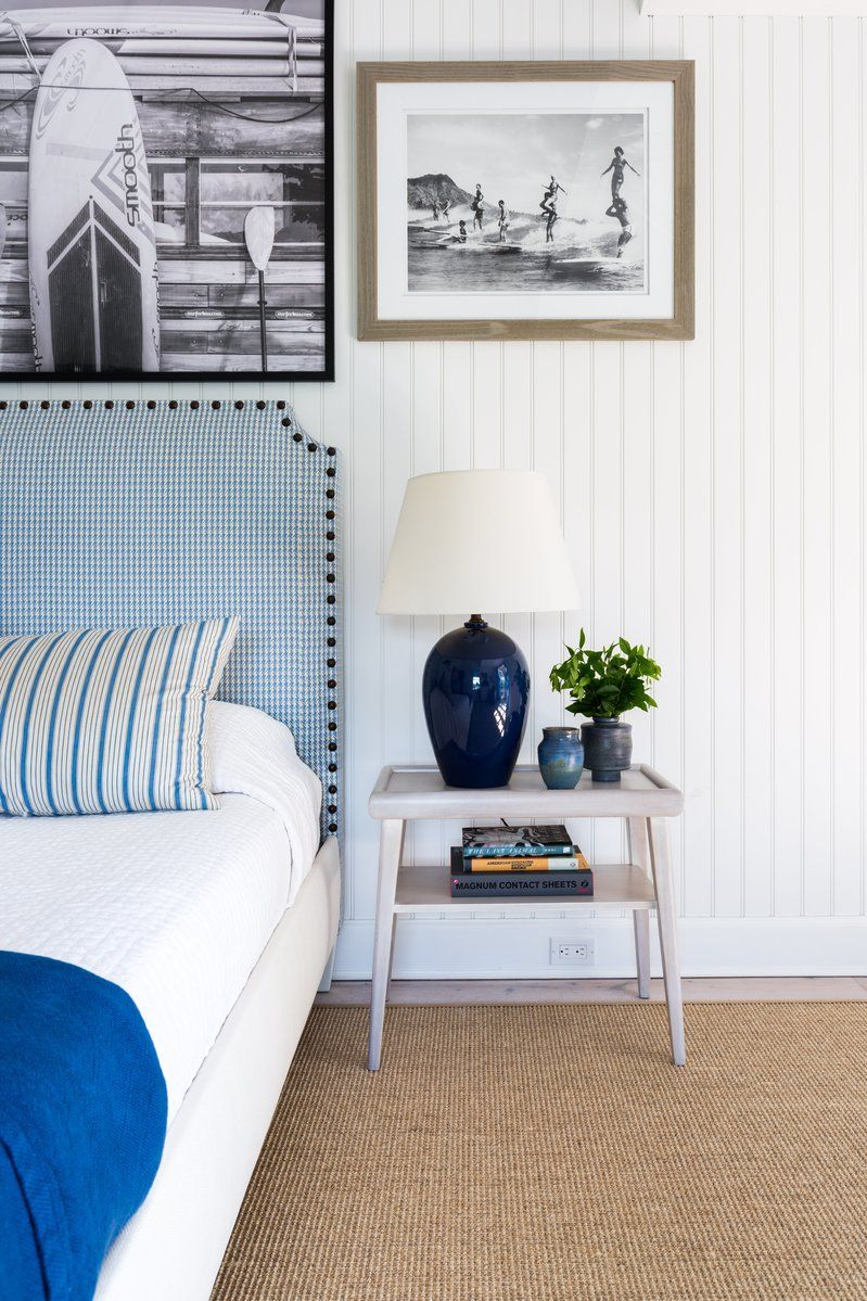 Beach Style Bedroom in Southampton, NY by Huniford Design Studio