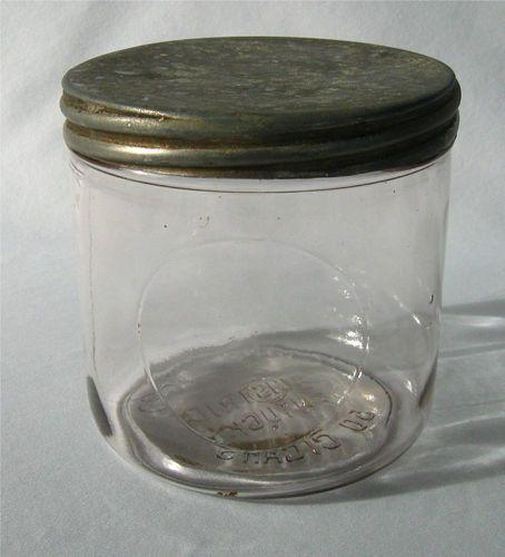 Antique Glass Kentucky Cigar Counter Jar, Humidor, Lightly Sun Purpled