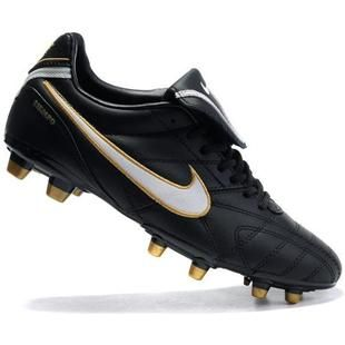 half off 533cc a58f1 2011 New Style Nike Tiempo Legend III FG Soccer Cleat In Black white gold  Football Bootsout of stock