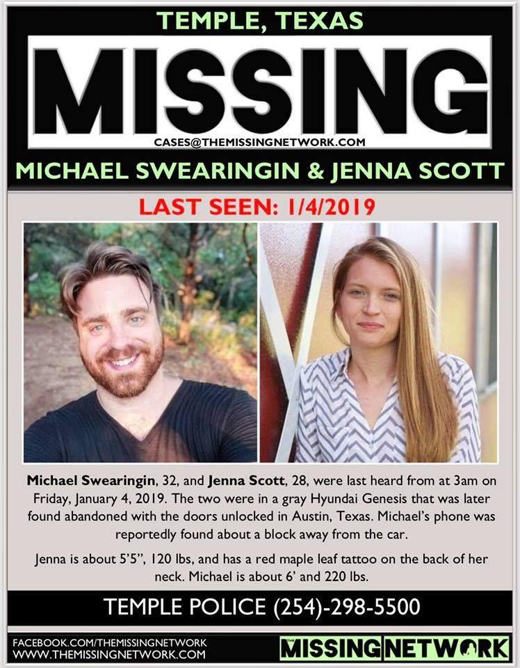 Find Missing Michael Swearingin N Jenna Scott! ***(HORRIBLE UPDATE