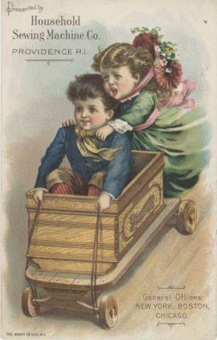 Household Sewing Machine Co. :: Victorian Tradecards