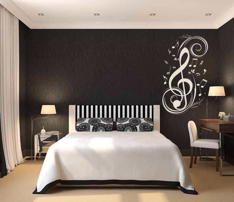 Details about Musical Notes Music Wall Stickers Wall Art Decal ...