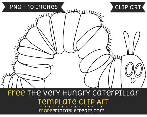 Free The Very Hungry Caterpillar Template - Clipart | Free Clipart ...