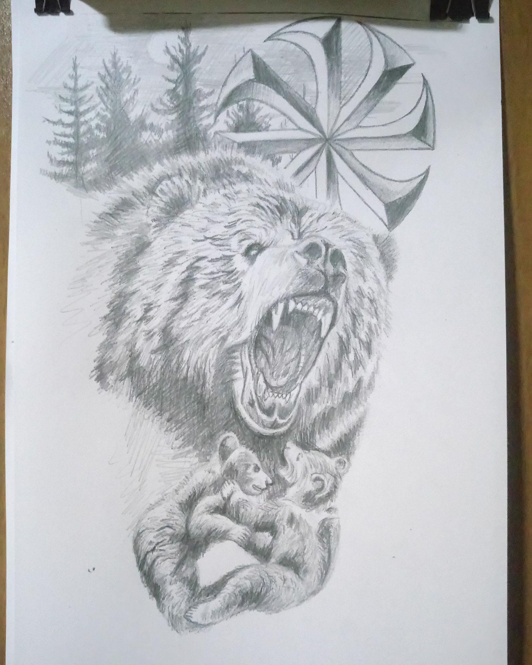 медведь тату картинки рисунки виды