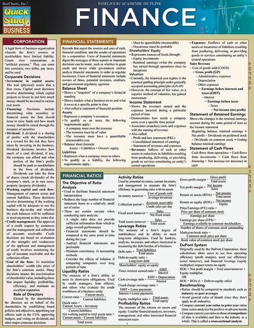 Finance (9781423233138) finance Pinterest Financial ratio - personal financial statement forms