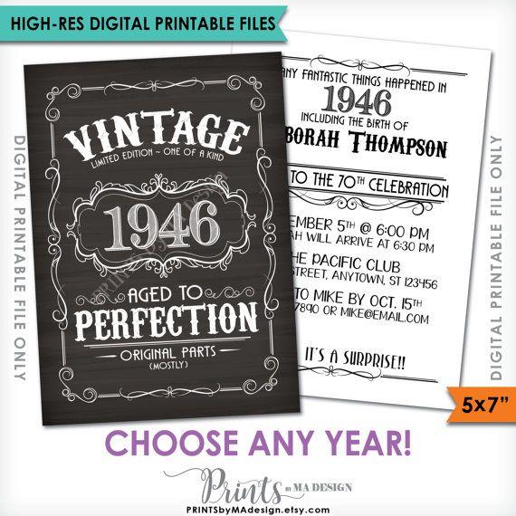 vintage birthday invitation better with