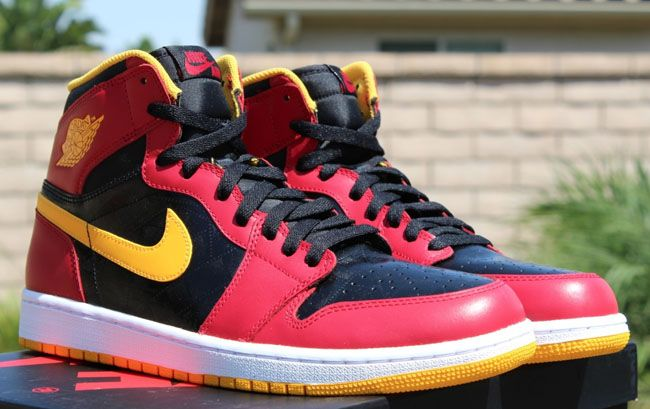 air jordan 1 red yellow