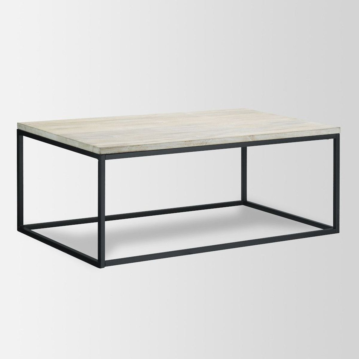Marvelous Box Frame Coffee Table   Solid Slab Mango Wood Top With Café Finish On An  Antique Bronze Finished Steel Frame (via West Elm)   For The Home    Pinterest ...