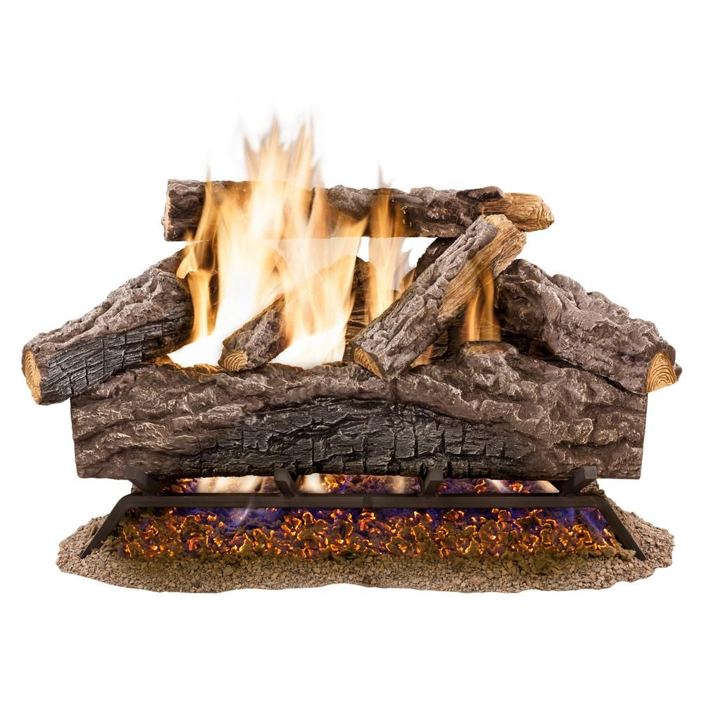 Ember Glow 30 In Charred River Oak Vented Natural Gas Fireplace