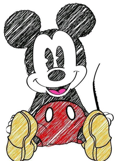 Topolino Art Arte Di Topolino Topolino E Disegni Disney