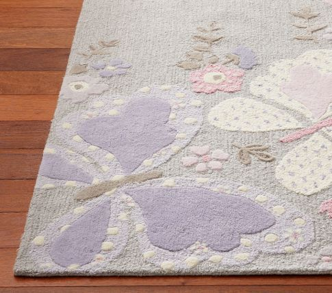 Pottery Barn Kids Camille Butterfly Rug Available In Pink Or