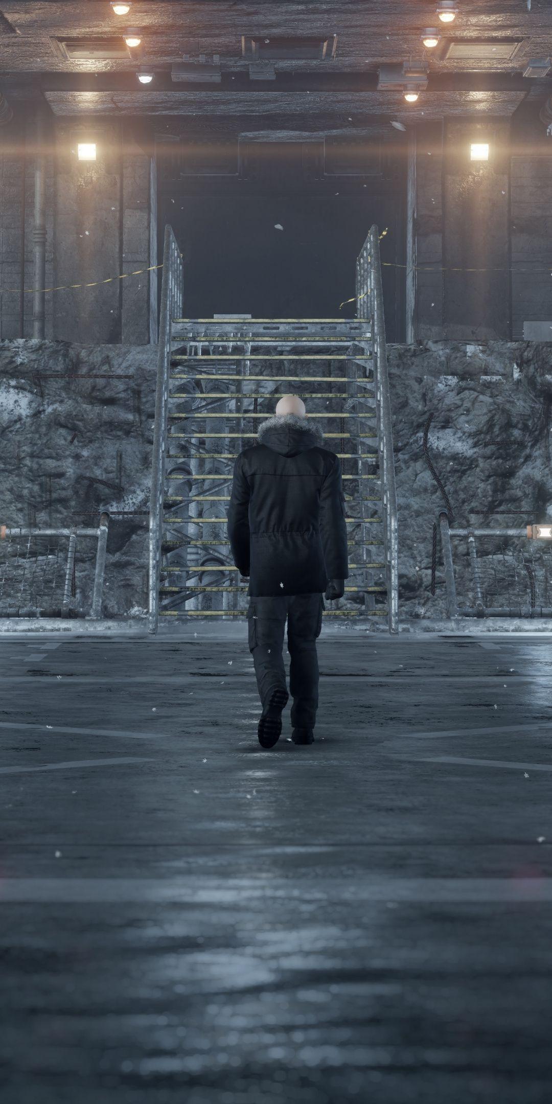 Hitman 2, inside base, video game, 2018, 1080x2160