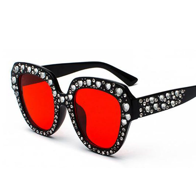 4e2888f02b022 Find More Sunglasses Information about Pink Cat Eye heart Crystal Sunglasses  women 2018 Italy brand new
