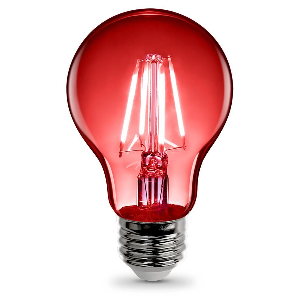 3 6 Watt Red A19 Filament Led Light Bulb Case Of 12 Light Bulb Bulb Led Decorative Lights