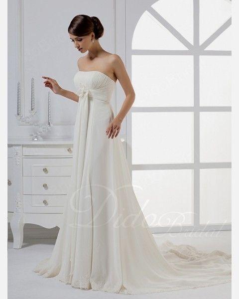 Strapless Empire Waist Wedding Dress