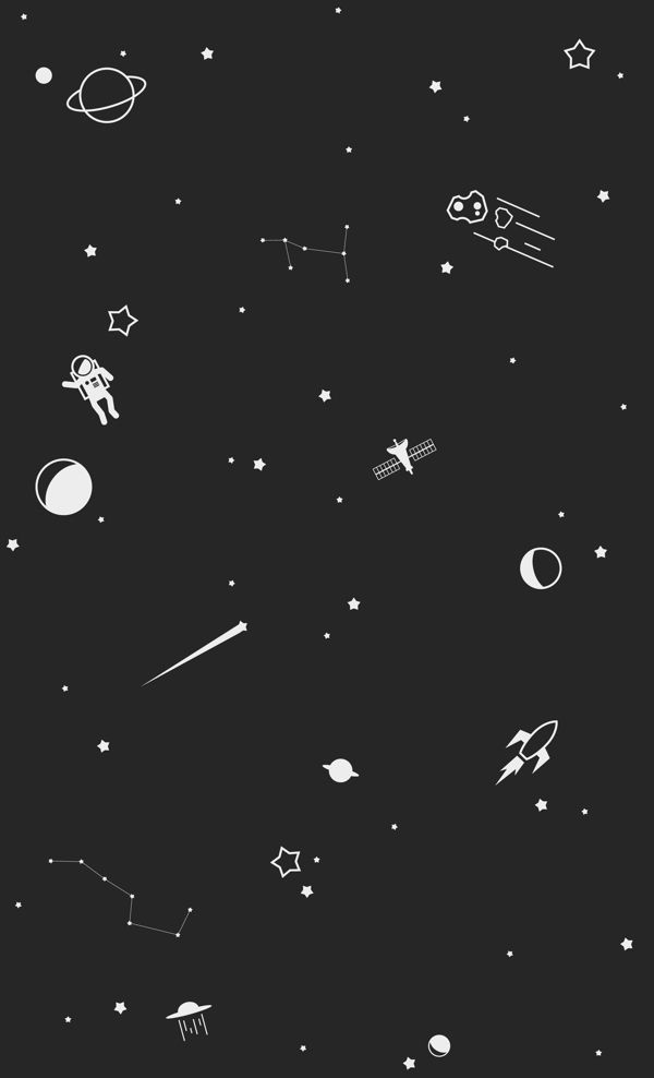 Outer space print by trae mikal via behance inspire for Outer space wallpaper design