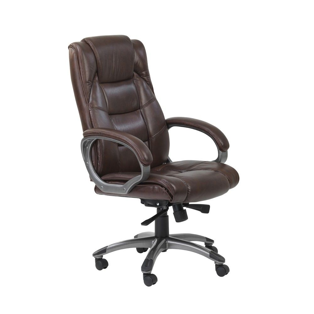 Alphason Northland Brown High Back Leather Executive Office Chair