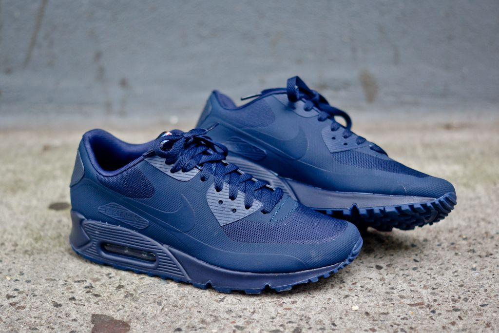 nike air max 90 black laser blue perforated nz
