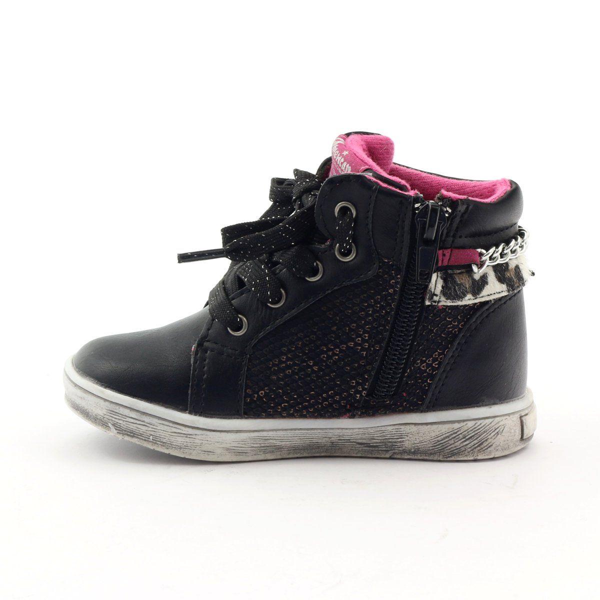 American Club Trzewiki Sportowe Kwiatek American 10108 Rozowe Zolte Czarne Childrens Shoes Kid Shoes Club Shoes