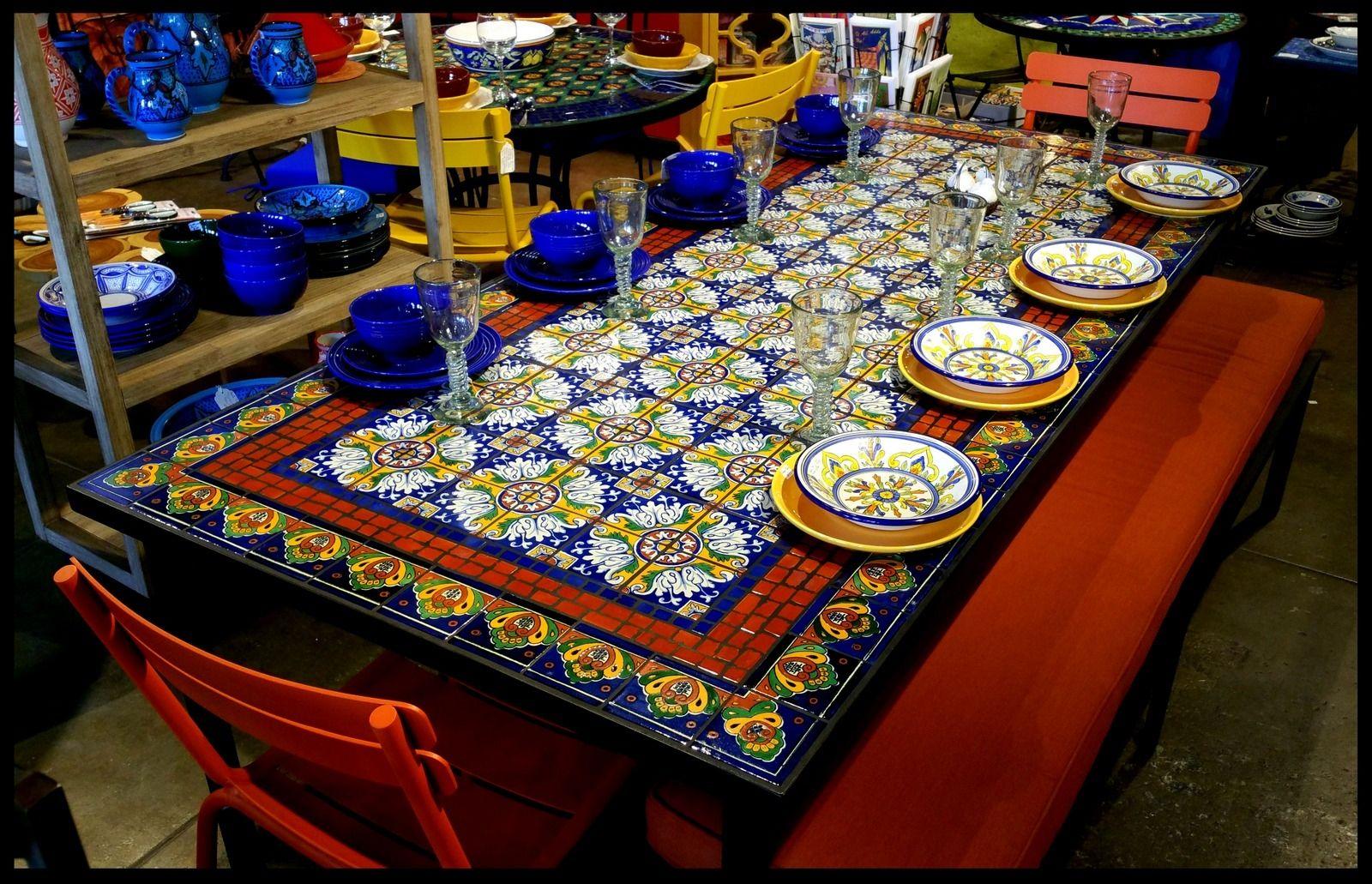 Spanish Tile Kitchen Table
