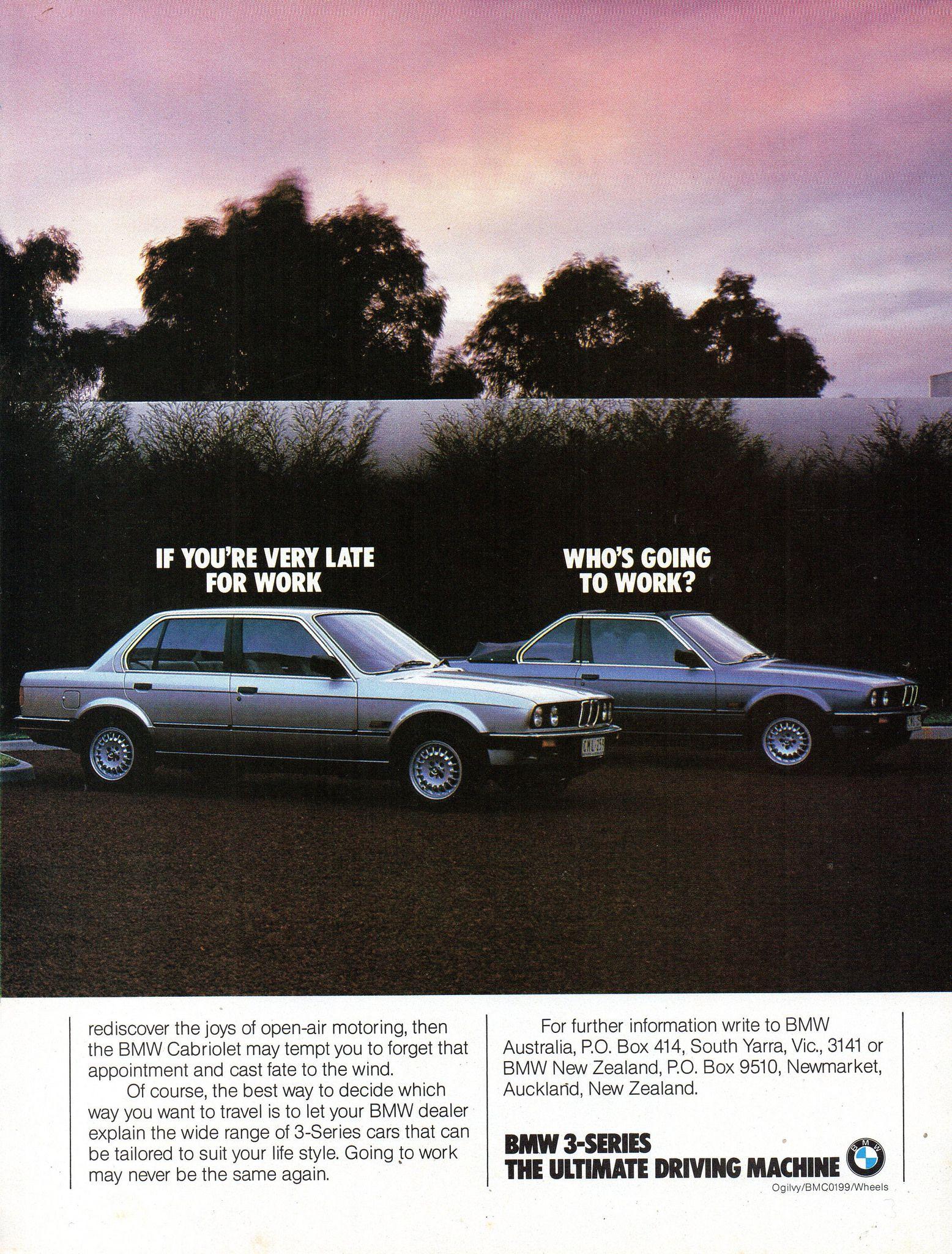 1985 BMW 318i 3 Series Sedan Coupe Cabriolet Page 2 Aussie Original Magazine Advertisement