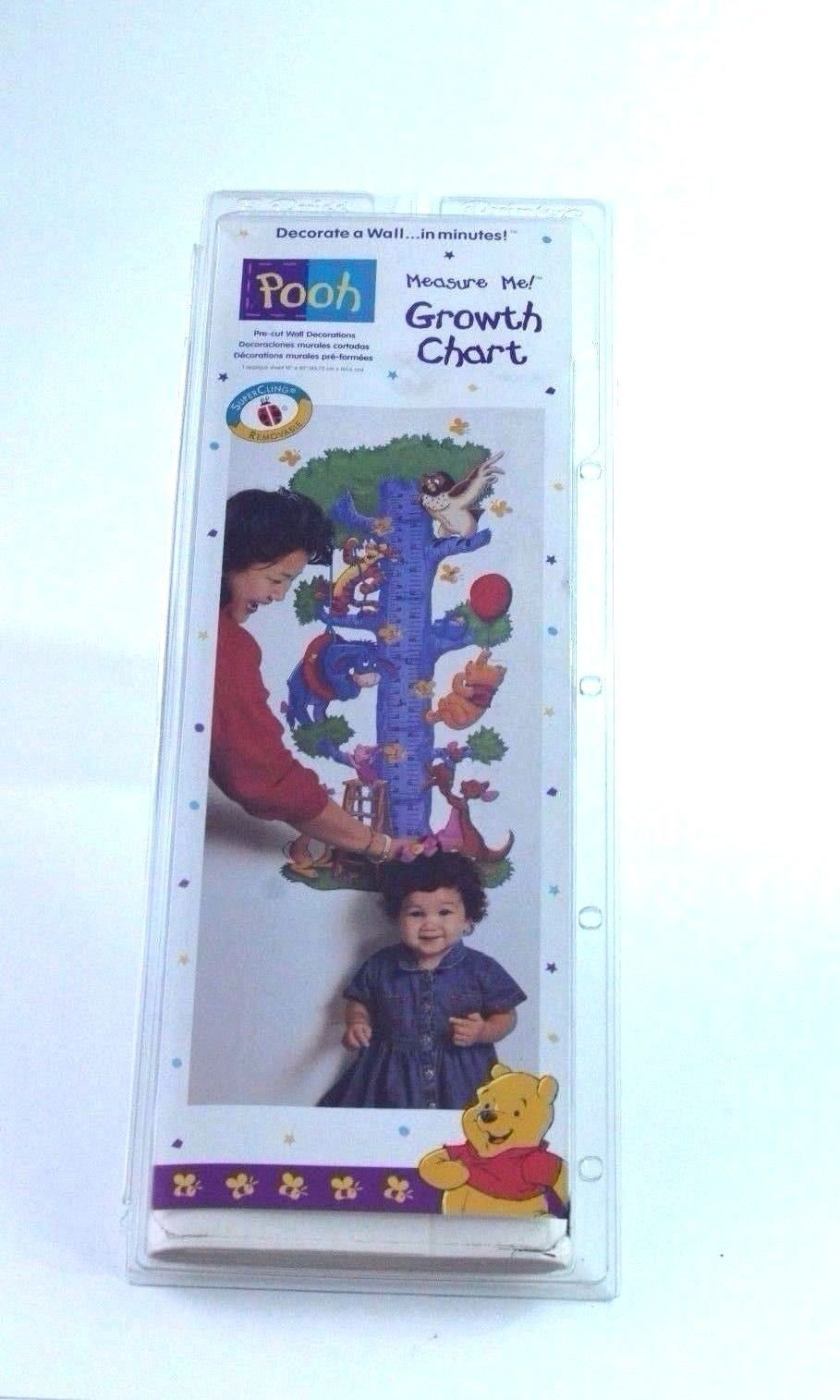 New vtg pooh bear measure me growth chart wall hanging decor new vtg pooh bear measure me growth chart wall hanging decor tigger piglet nvjuhfo Images