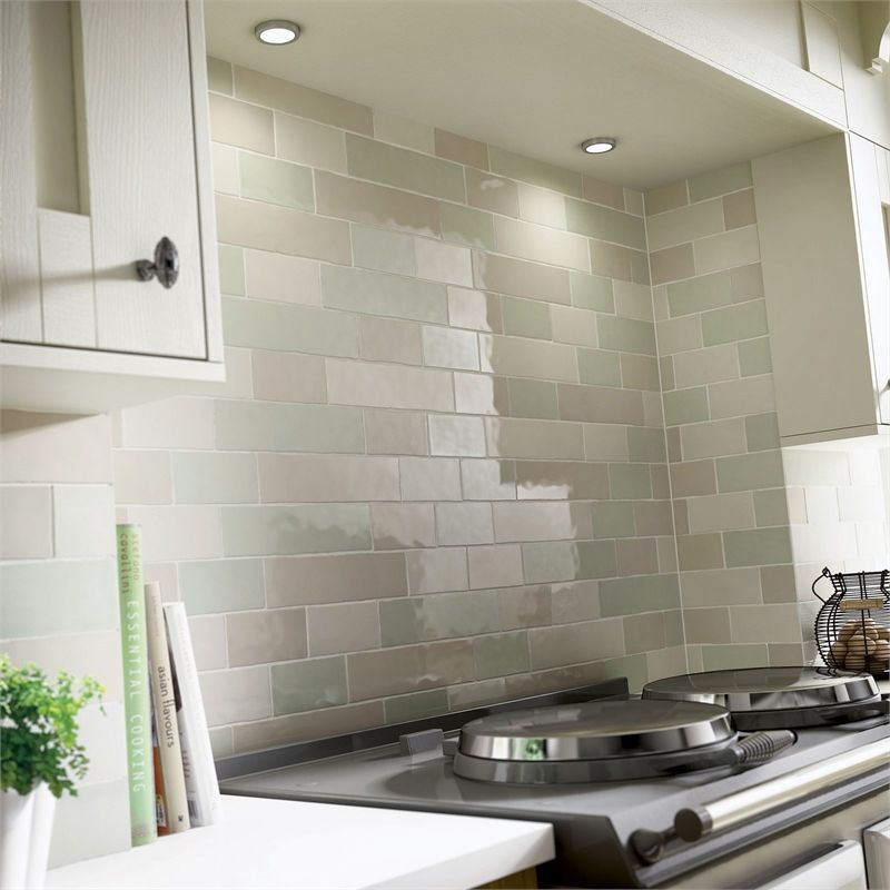 Laura Ashley Artisan Eau De Nil Ceramic Wall Tile 22 Pack Kitchen Tiles Design Kitchen Wall Tiles Kitchen Tiles
