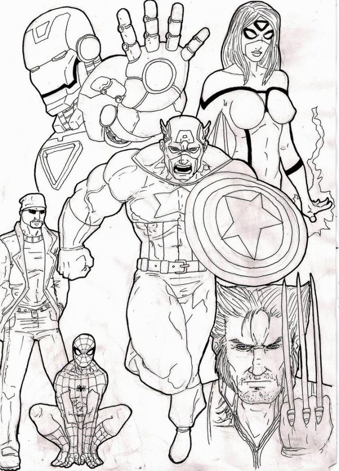 Coloring Sheets Avengers | Coloring Pages | Pinterest
