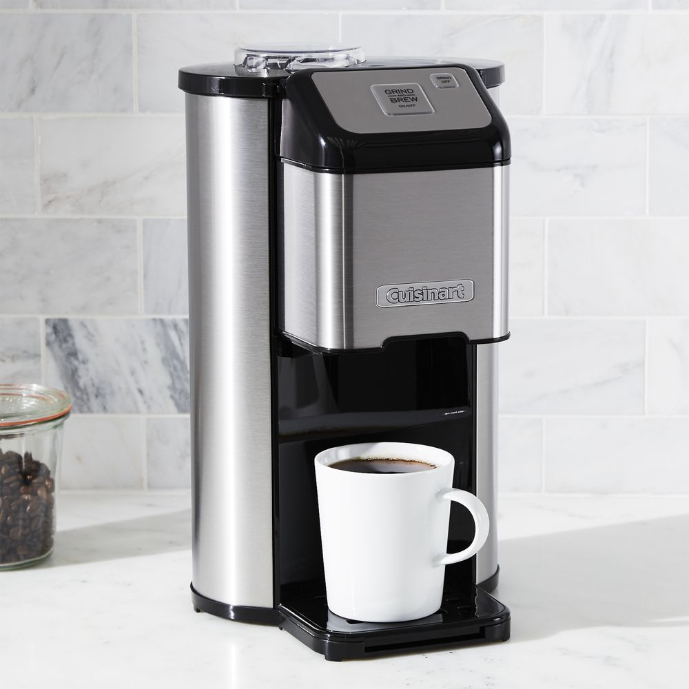 Cuisinart Single Cup Grind And Brew Coffee Maker Crate And Barrel Coffeemaker With Images Single Coffee Maker Coffee Maker Coffee