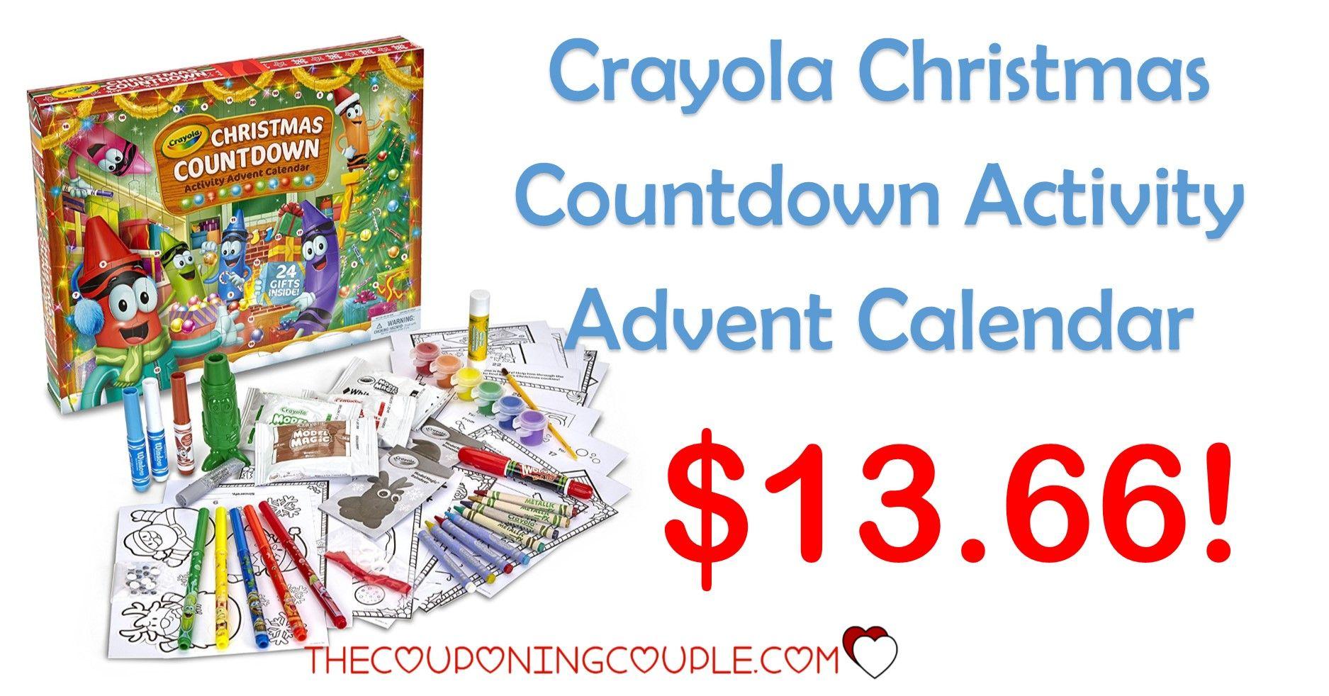 Crayola Christmas Countdown Activity Advent Calendar - $13.66 ...