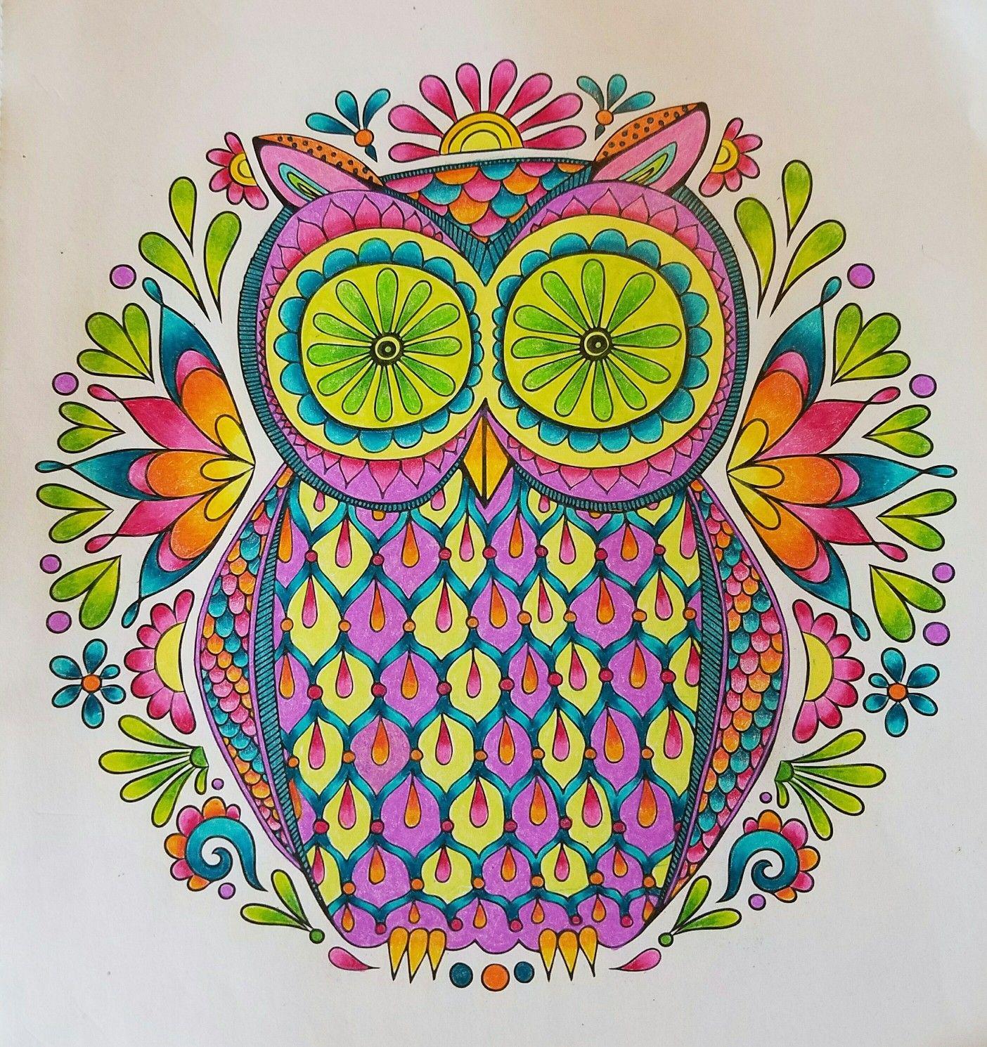 Owl Mandala From Nature Mandalas By Thaneeya McArdle