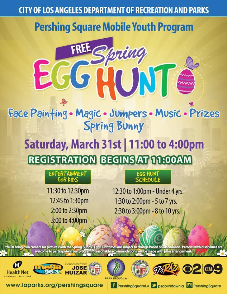 FREE Spring Egg Hunt at Pershing Square in downtown
