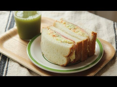 4k Potato Salad Sandwich Honeykki 꿀키 Youtube 식품 아이디어 음식 감자 샐러드