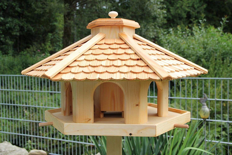 XXXL VOGELHAUS aus HOLZ Vogelhäuschen Vogelhäuser Vogelfutterhaus Futterspender