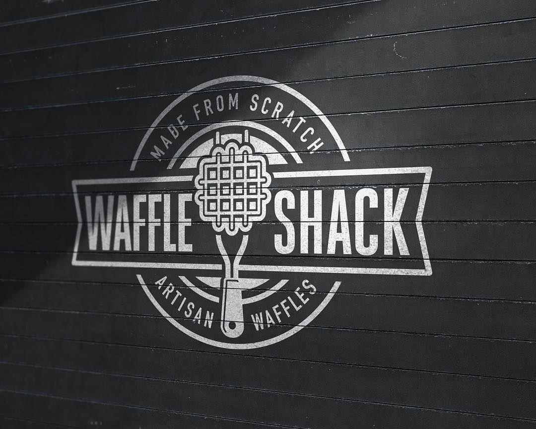 Branding for Waffle Shack. Branding Food Waffles