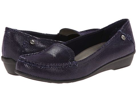 Womens Shoes Anne Klein AKEvolved Navy Reptile