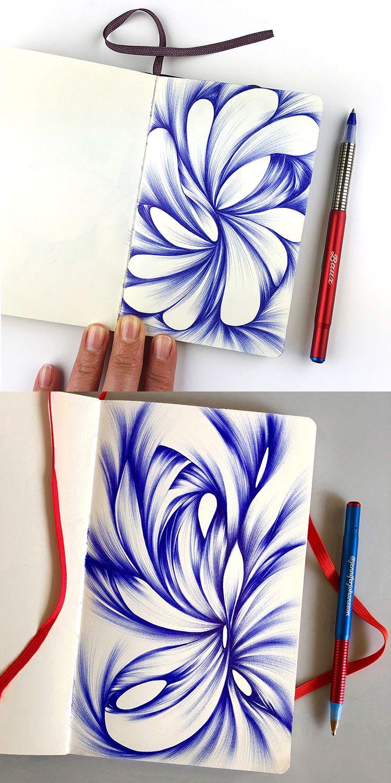 2018 Sketchbook Tour Ink Pen Drawings Ink Pen Art Ballpoint