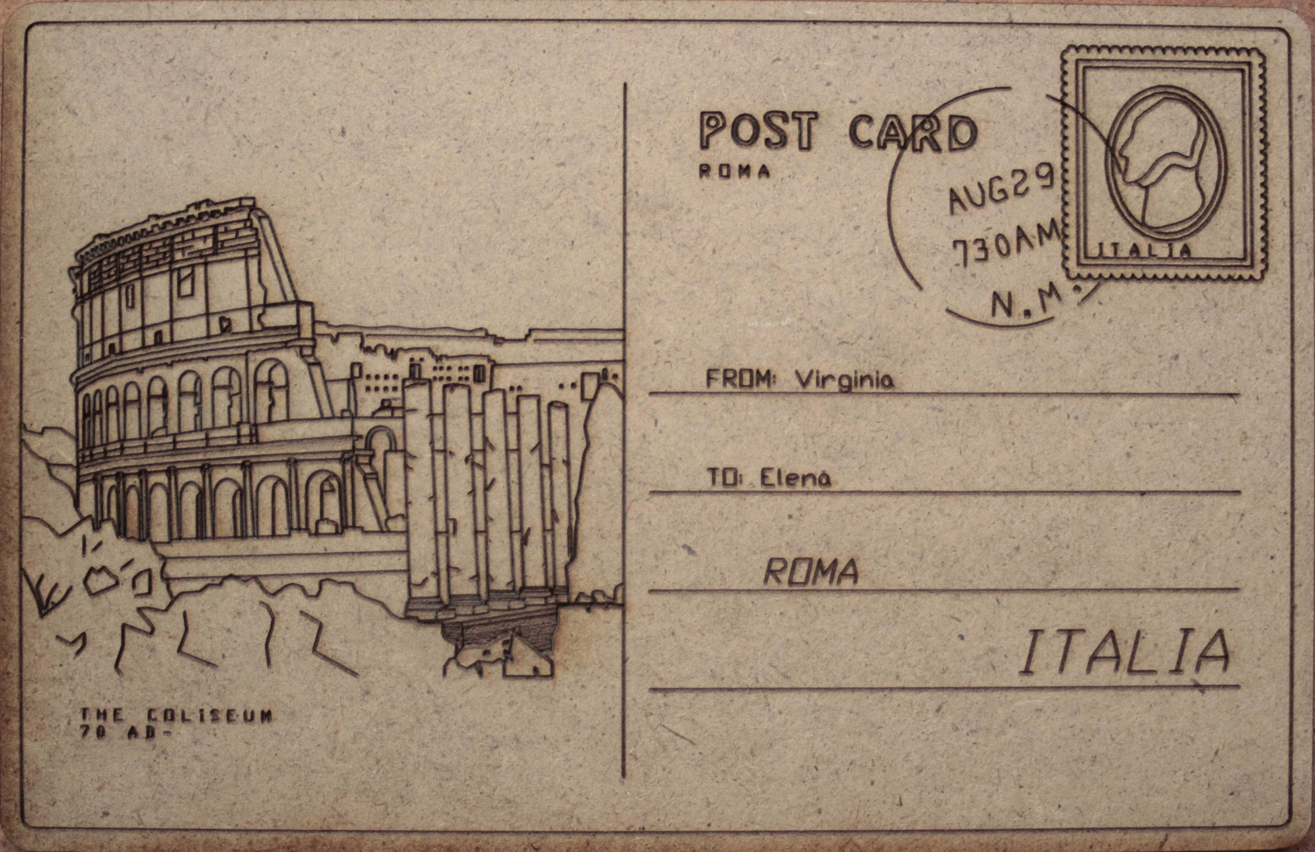Design: Retro Postcards from Rome | Vintage Rome ...