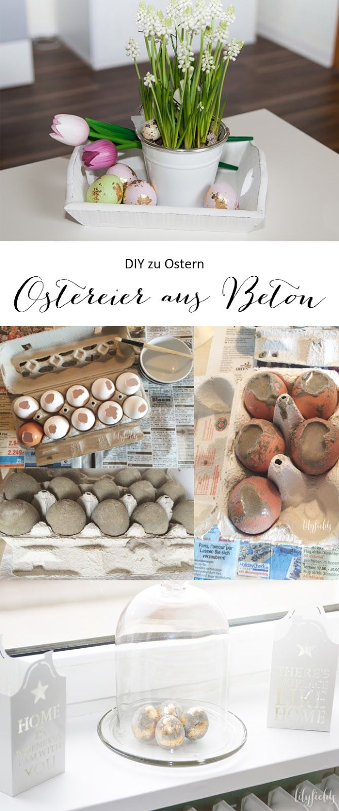 diy ostereier aus beton in 2018 osterbastelei pinterest easter and craft. Black Bedroom Furniture Sets. Home Design Ideas