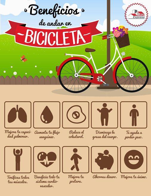 Beneficios de andar en bicicleta biking pinterest - Beneficios de la bici eliptica ...