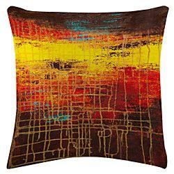 Dusk Map Velvet Decorative Pillow Cover | LightInTheBox