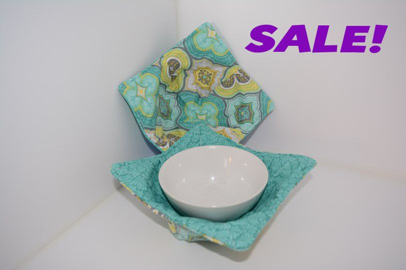 Microwave Bowl Cozy, Set of Two Small - pinned by pin4etsy.com