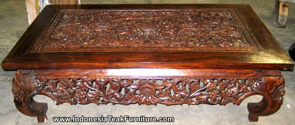 wooden carvings  Furniture from Indonesia. Wooden Table Wooden