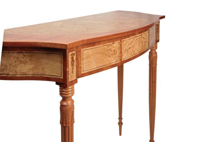 Mahogany Oak Burl Pine And Ebony Side Table Mcdonald Made This