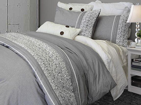 enveloppe de couette laney tissus decoration bmr groupe bmr inc douceur et texture. Black Bedroom Furniture Sets. Home Design Ideas