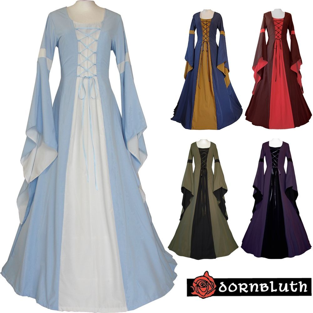 mittelalter karneval gotik larp kleid robe gewand hannah